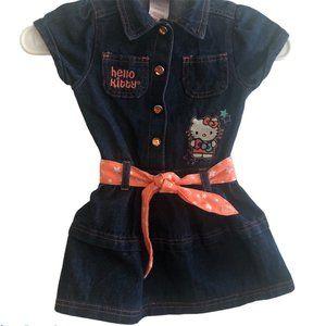 Hello Kitty Blue Denim Size 4T Dress